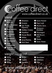 Coffee Direct label